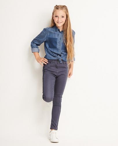 Jeans met paillettenstrook